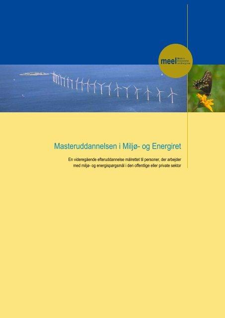 Masteruddannelsen i Miljø- og Energiret