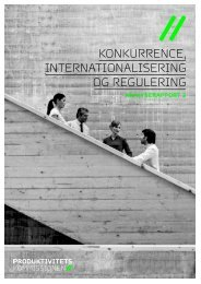 KonKurrence, InternatIonalIserIng og regulerIng
