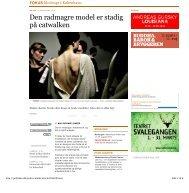 Den radmagre model er stadig på catwalken - Foreningen Danske ...
