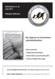 Nyhedsbrev #45 - Komiteen Flygtninge Under Jorden