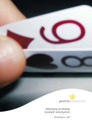 Betænkning om offentligt hasardspil i turneringsform