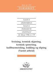 Forskrift om varmt arbeid (551) - Ernst Nilsen AS