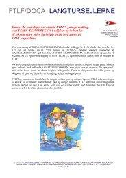 Kære sejler - Foreningen til Langtursejladsens Fremme