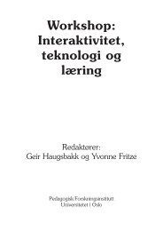 Workshop: Interaktivitet, teknologi og læring - ITU