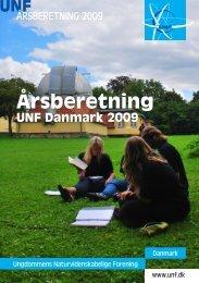 Årsberetning 2009 - Ungdommens Naturvidenskabelige Forening