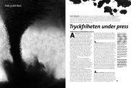 Tryckfriheten under press - Folket i Bild/Kulturfront