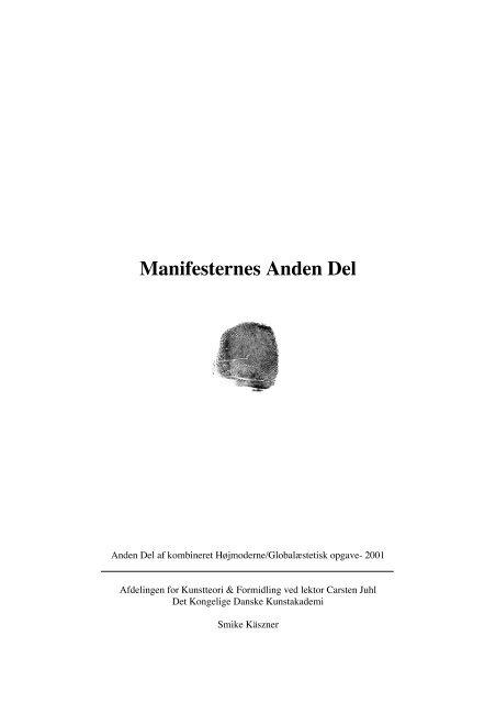 Manifesternes Anden Del - Smike Käszner