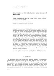 Global Stability of Disk-Bulge Systems: Spiral Structure of Disk ...