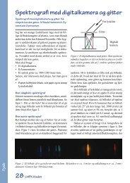 Spektrografi med digitalkamera og gitter - LMFK