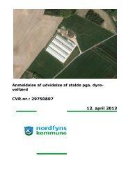 Udvidelse af bygninger på minkfarm pga. dyrevelfærd - Nordfyns ...