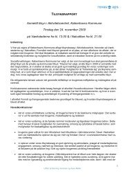 Hent Tilsynsrapport 2009 - Aktivitetscentret Sundholm