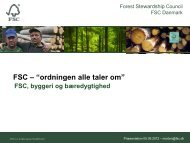 FSC Danmark - Forum for Bæredygtige Indkøb