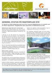 Her kan du læse de seneste nyheder i Masterplan Syd