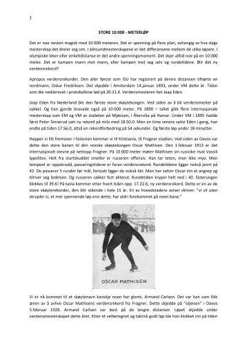 Les artikkel - Norges Skøyteforbund