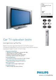 32PF7521D/10 Philips widescreen flat TV med Pixel ... - Ingram Micro
