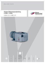 Original Betjeningsvejledning V-VGA / V-VGC - Elmo Rietschle