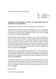 Orienteringsskrivelse af 4. oktober 2002 - Budget- og ...