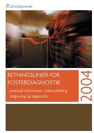 Retningslinjer for fosterdiagnostik - Sundhedsstyrelsen
