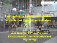 Innovation og Kreativitet i Gymnasiet - Lene Tanggard