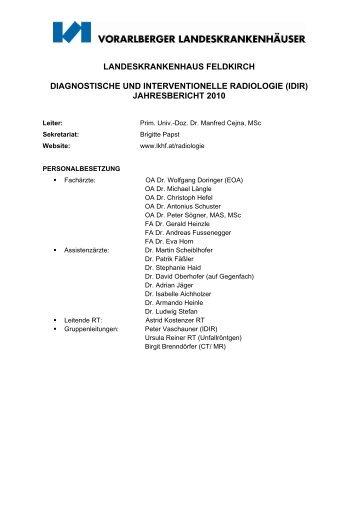 Presseaussendung mit der Bitte um ... - Landeskrankenhaus Feldkirch
