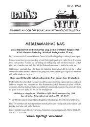 BMÅS-NYTT Nr 2 År 1998 - Borås Miniatyrånglokssällskap