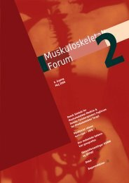 Muskuloskeletalt Forum - 2/2006 (pdf) - Fagforum for ...