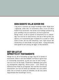 Folder om arv og testamente - Folkekirkens Nødhjælp