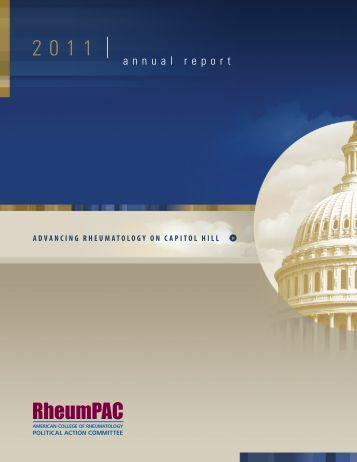 2011 RheumPAC Annual Report