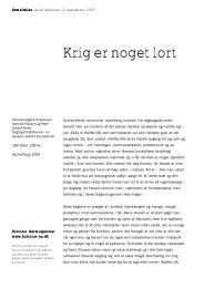 Krig er noget lort - Historie-nu.dk