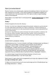 Reunion i Århus onsdag den 28. august 2013 - Go'Proces