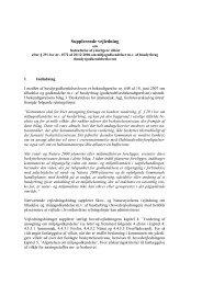 Supplerende vejledning - Miljøministeriet