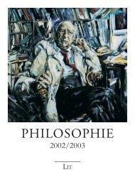 Philosophie - LIT Verlag