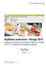 Rapport: Nyttbart matsvinn i Norge 2011 - NHO Mat og Drikke