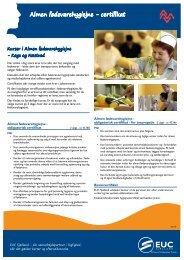 Almen fødevarehygiejne - certifikat - EUC Sjælland