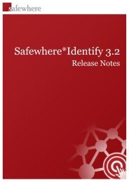 Identify 3.2 Release Notes - Safewhere