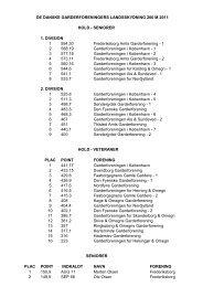 Resultatliste 2011 - De Danske Garderforeninger