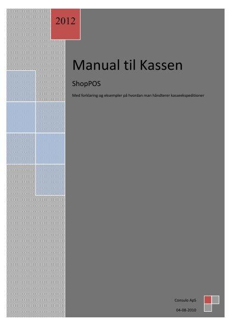 Vejledning til kassesystem - Shopbook