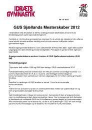 GUS Sjællands Mesterskaber 2012
