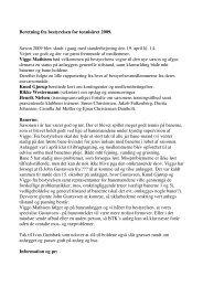 Bestyrelsens beretning - 2009.pdf - Brædstrup Tennis Klub