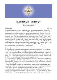 Mindedagen 2008 - Martinus Institut