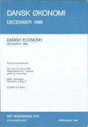 Danskøkonomi, december 1988 - De Økonomiske Råd