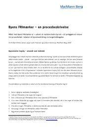 Byens FRImærker – en procesbeskrivelse - MacMann Berg