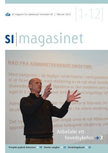 SI Magasinet nr 1-2012 - Sykehuset Innlandet HF