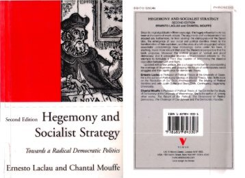 Hegemony and Socialist Strategy by Ernesto Laclau ... - Ellie Harrison