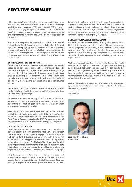 Læs redegørelsen for 2010 - Uno-X Smøreolie