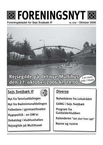 Foreningsnyt - Sejs Svejbæk Idrætsforening