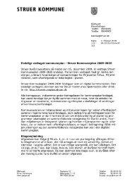 Følgebrev til offentliggørelse af endeligt vedtaget kp - Struer kommune