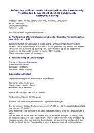 01-06-2010. Ordinært møde, referat - Asperup-Roerslev Lokaludvalg