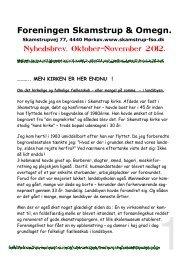 Oktober-November - Foreningen Skamstrup og Omegn