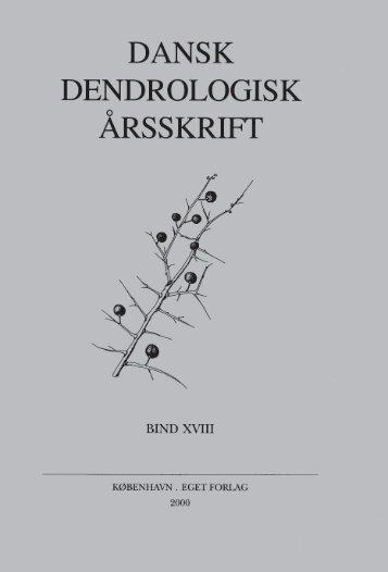 Volume 18 (2000) - Dansk Dendrologisk Forening